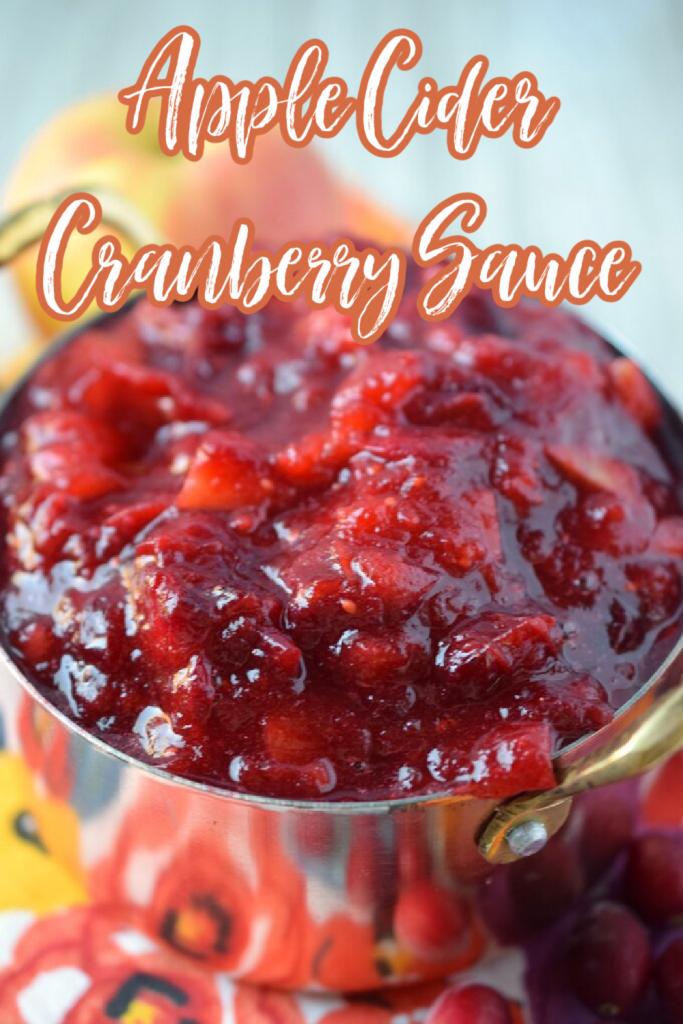 Apple Cider Cranberry Sauce - Sweet and tangy cranberry sauce with apple cider. An easy side dish made in just minutes that's perfect for the holidays! Cranberry Sauce Recipe | Thanksgiving Cranberry Sauce | Apple Cider Cranberry Sauce