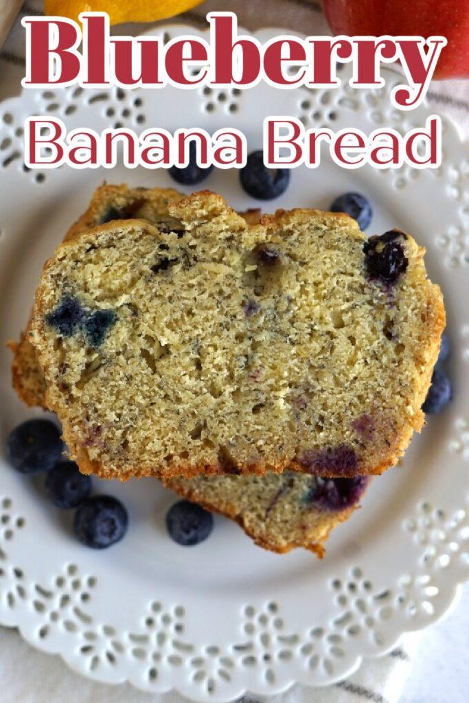 Easy Blueberry Banana Bread