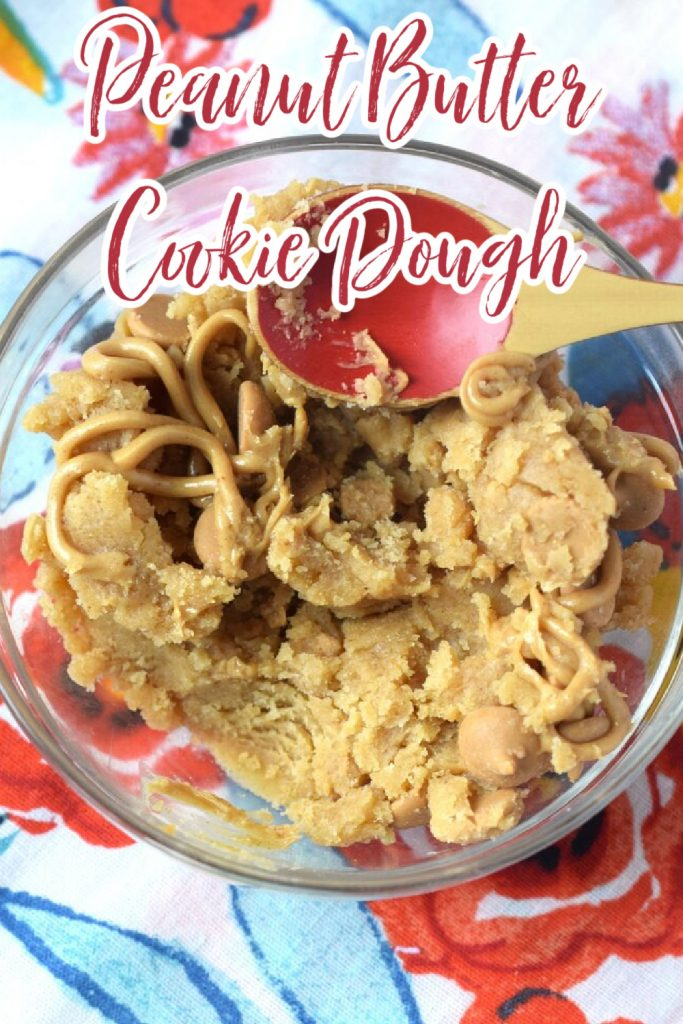 Peanut Butter Cookie Dough - The perfect amount of peanut butter cookie dough for two! Eggless and takes just minutes to make! Edible Cookie Dough   No Bake Cookie Dough   Peanut Butter Cookie Dough