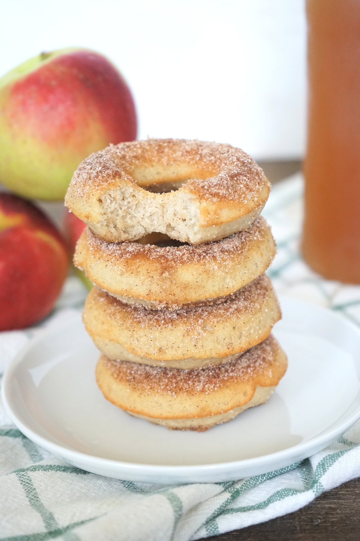 Apple Cider Baked Donuts stacked