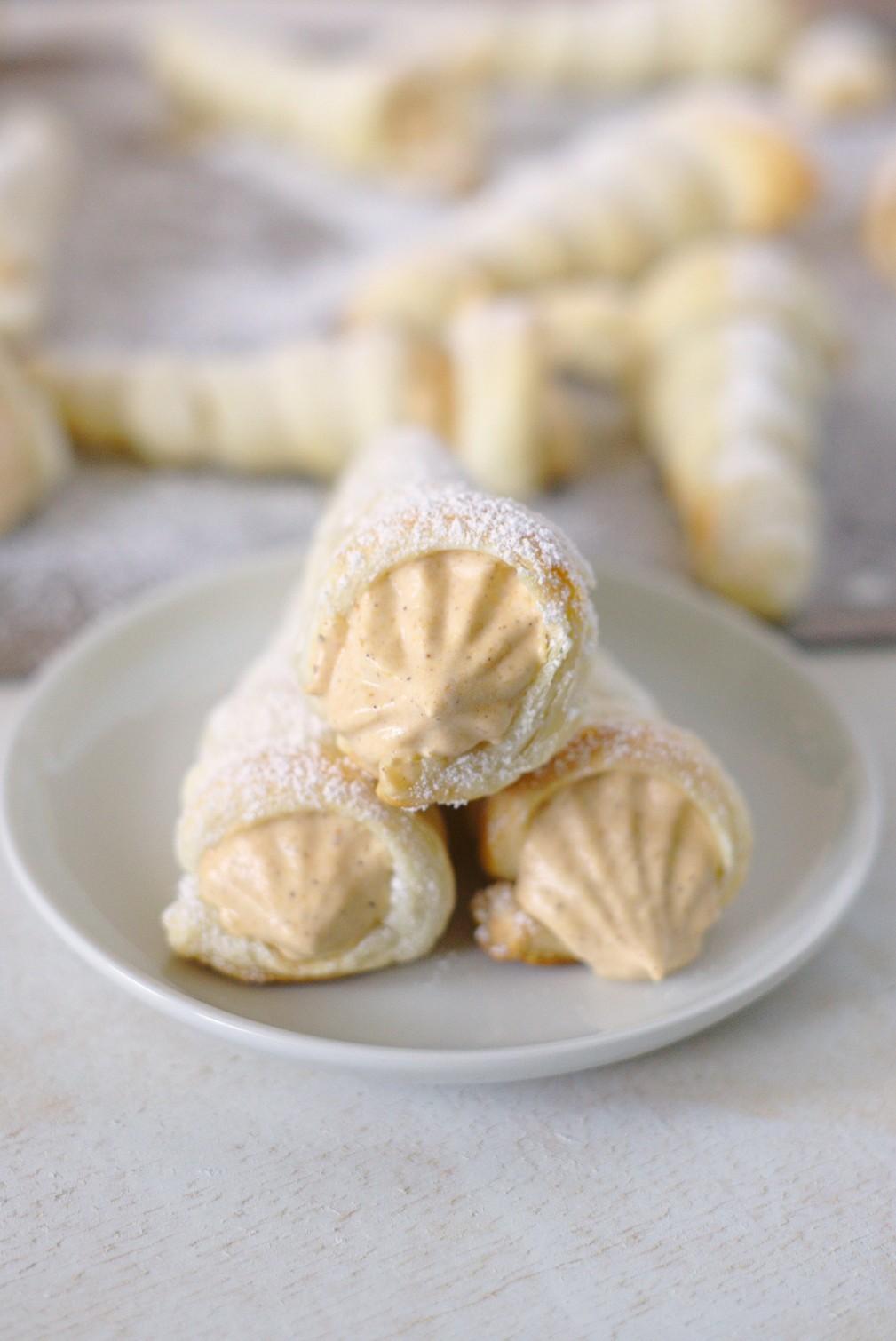 Easy Pumpkin Cream Horns Recipe - Mildly Meandering Horns Recipe