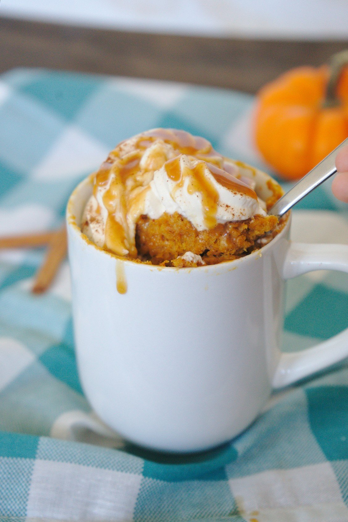 Pumpkin Spice Latte Mug Cake