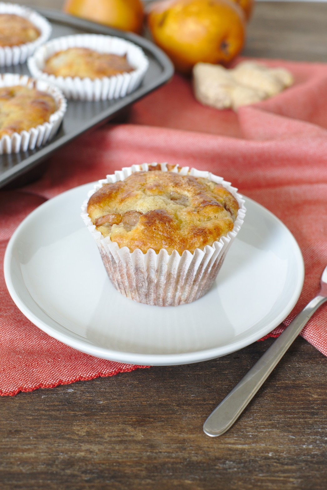 Healthy Ginger Pear Muffins