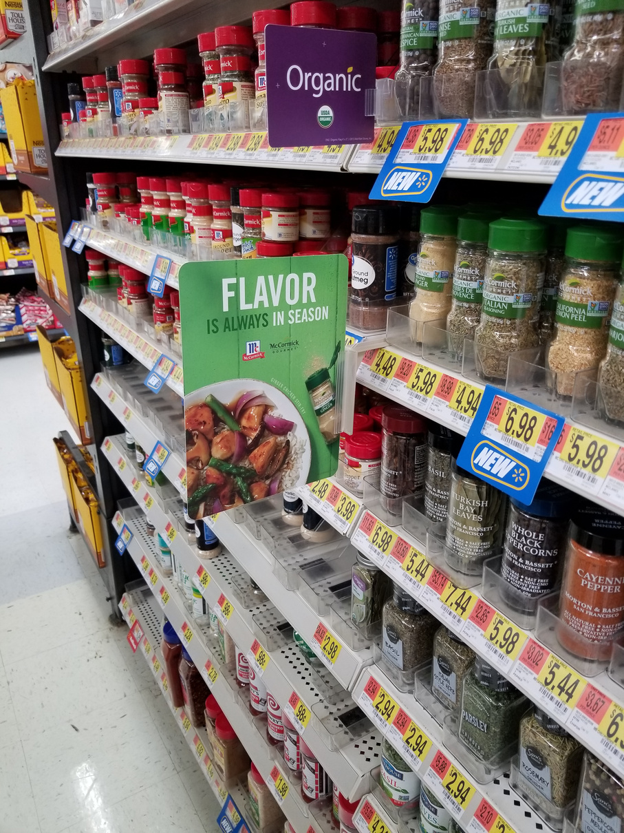 McCormick All-Purpose Spices in aisle