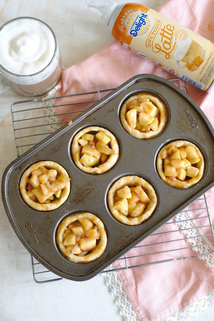 Caramel Apple Snickerdoodle Cookie Cups