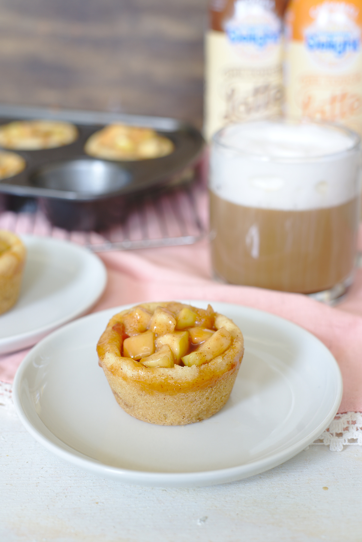 Caramel Apple Snickerdoodle Cookie Cups