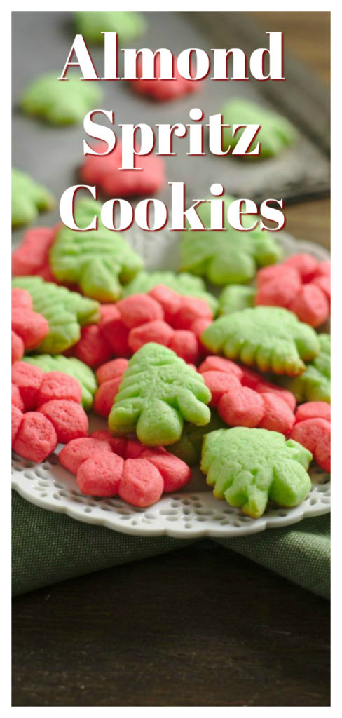 A classic German buttery cookie made with a cookie press to have fun shapes. Perfect for a Christmas cookie exchange! Christmas Cookie Recipe | Spritz Cookie Recipe | German Spritz Cookie