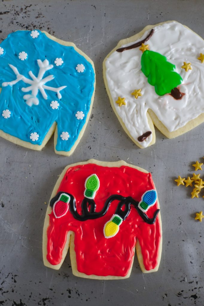 Ugly Christmas Sweater Cookies