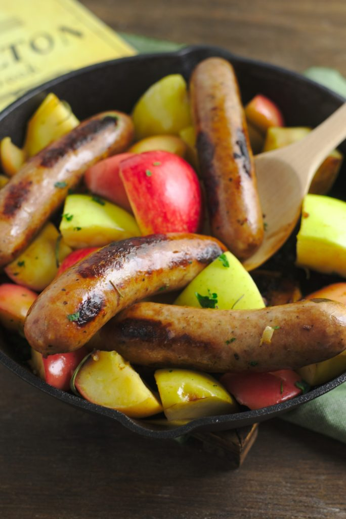 Chicken Sausage and Apples