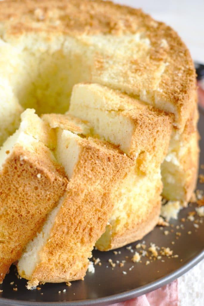 Easy Vanilla Bean Chiffon Cake Mildly Meandering