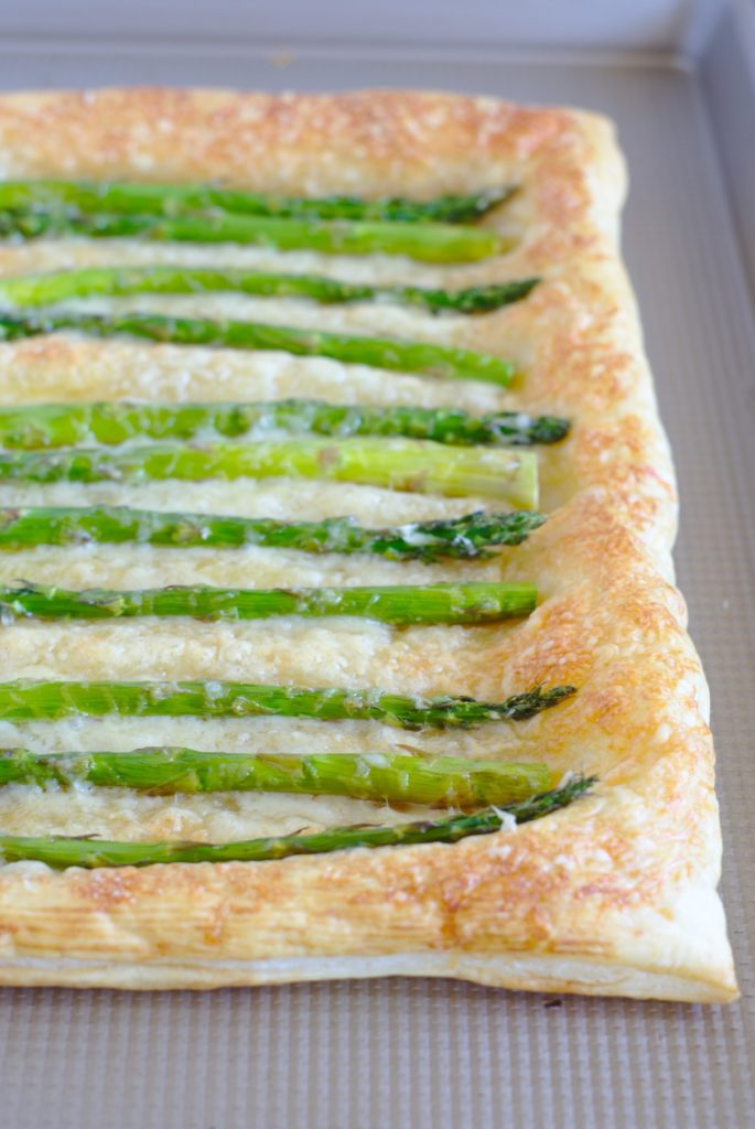 Asparagus Tart with Puff Pastry