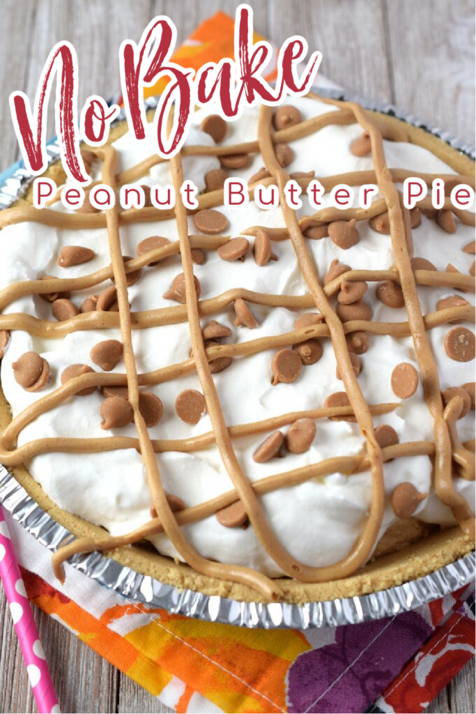 No Bake Peanut Butter Pie {5 Ingredients} - The perfect easy no bake pie recipe that takes just minutes to make! This peanut butter pie is made with only 5 simple ingredients and is perfect for parties! No Bake Peanut Butter Pie | Peanut Butter Pie | No Bake Pie | No Bake Dessert