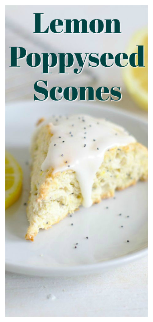 Lemon Poppyseed Scones - A delicious baked treat perfect for breakfast with tea! A classic scones with fresh lemon juice and poppyseeds! Easy Scone Recipe   Lemon Scones   Lemon Poppyseed Recipe