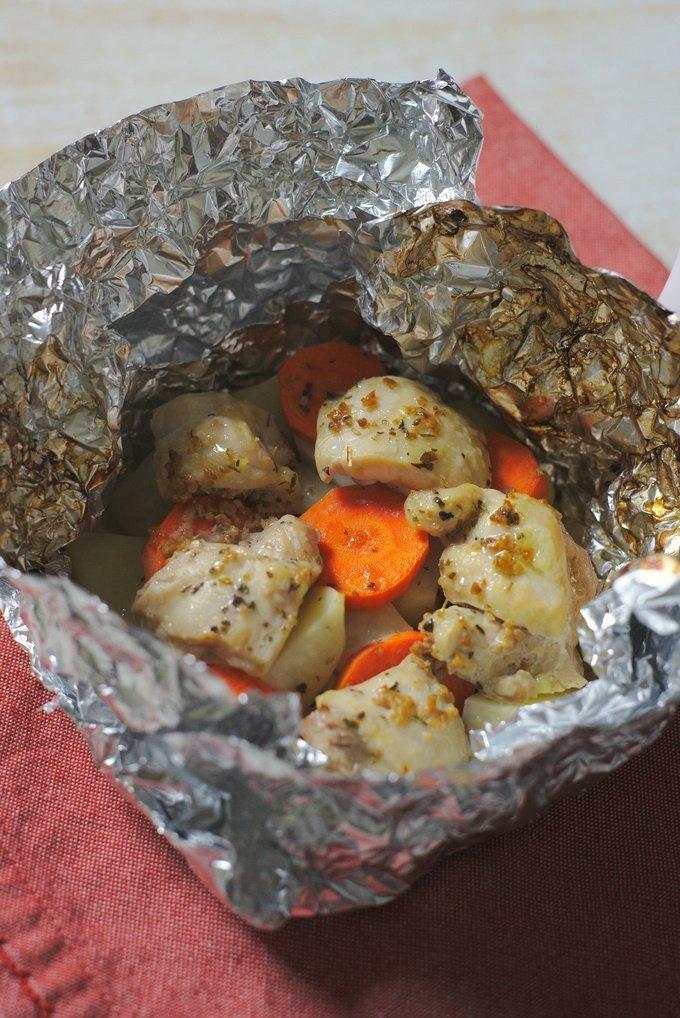 Garlic Herb Chicken Foil Packets