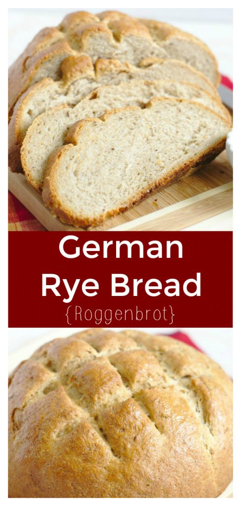 German Rye Bread (Roggenbrot) - Delicious homemade bread made with rye flour and caraway seeds. This bread recipe is easy to make and great for sandwiches!
