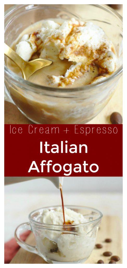 Italian Affogato - A delicious Italian dessert made from vanilla gelato or ice cream and topped with espresso. This indulgent treat is perfect for summer. Affogato Recipe   Ice Cream Recipe   Espresso Recipe   Italian Dessert #dessert #recipe #easyrecipe #coffee #espresso #icecream