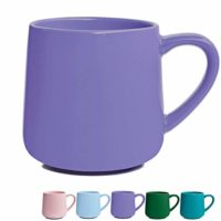 Glossy Ceramic Coffee Mug, Tea Cup for Office and Home, 18 oz, Dishwasher and Microwave Safe, 1 Pack (Purple)