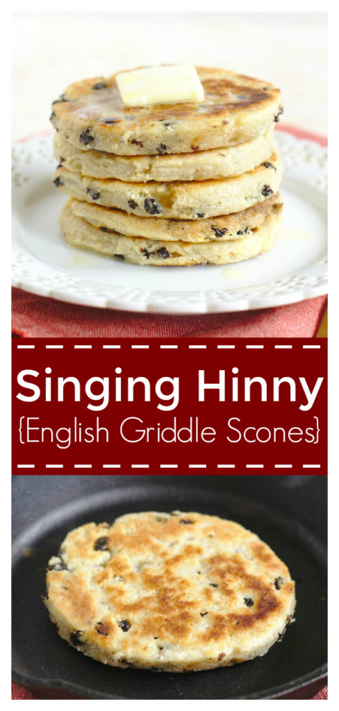 English Singing Hinnies (Griddle Scones) - A delicious breakfast treat! A scone-like dough grilled on a skillet until golden brown and crispy. Singing Hinny Recipe   British Breakfast Recipe   British Recipe #british #breakfast #recipe #easyrecipe