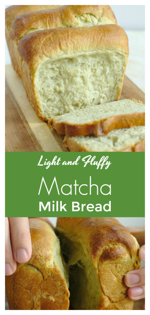 Matcha Milk Bread - Light and fluffy pull-apart Japanese bread that is easy to make! This milk bread recipe uses the tangzhong roux method with a touch of matcha! Matcha Recipe | Milk Bread Recipe | Japanese Milk Bread #baking #bread #matcha #recipe #easyrecipe