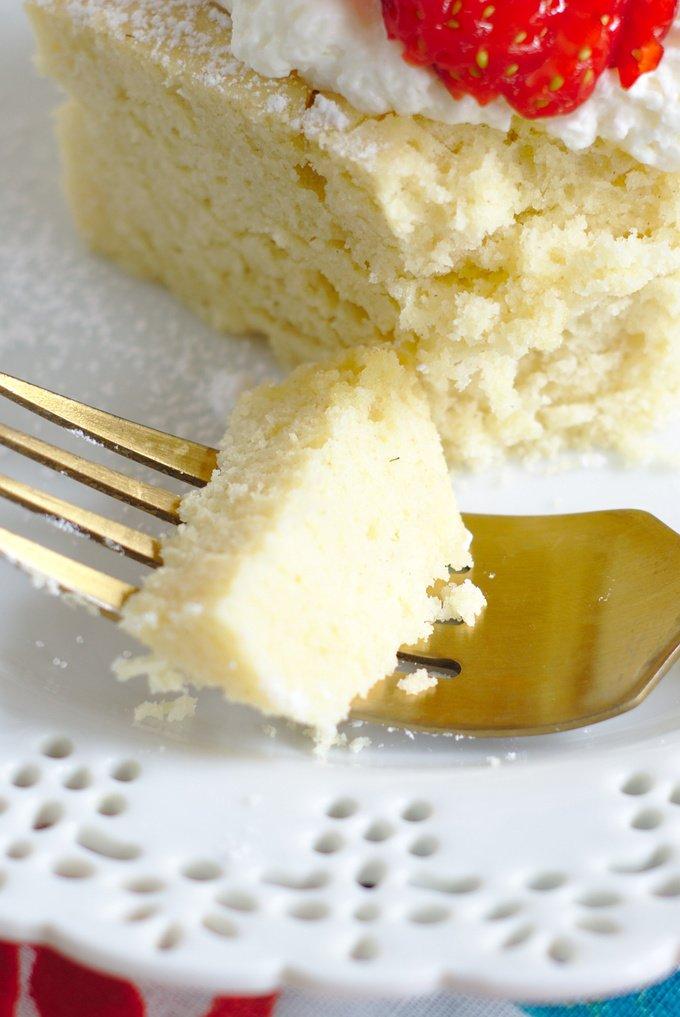 Homemade Hot Milk Cake