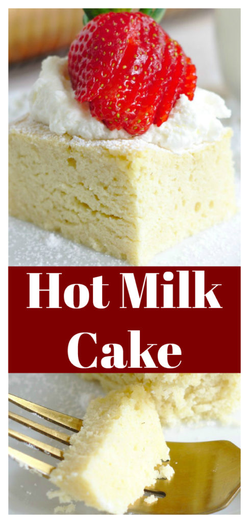 Hot Milk Cake - A classic cake that is a great way to use up extra milk that you have on hand! Made in less than an hour with simple ingredients, this is going to be a new favorite! Homemade Cake Recipe   Hot Milk Cake Recipe   Easy Cake Recipe