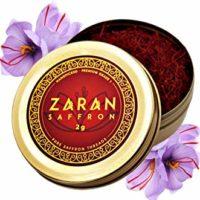 Zaran Saffron, Superior Saffron Threads (Premium) All-Red Saffron Spice (Highest Quality Saffron for your Paella, Risotto, Persian Tea, Persian Rice and Basmati Rice) (Persian (Super Negin), 2 gram)