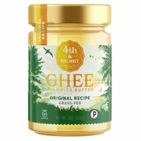Original Grass-Fed Ghee by 4th & Heart, 16 Ounce, Pasture Raised, Non-GMO, Lactose Free, Certified Paleo and Keto