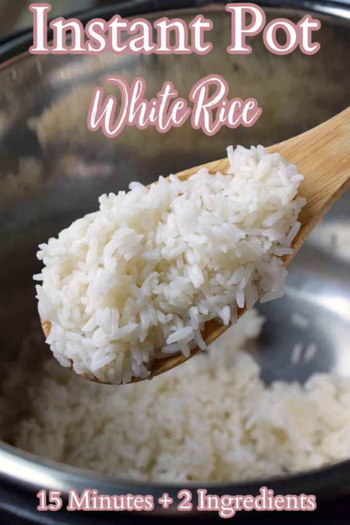 Instant Pot White Rice - Making white rice in an Instant Pot is the BEST way to make rice! Just takes 2 ingredients and 15 minutes to make. Instant Pot White Rice | How to Make Rice in an Instant Pot | Instant Pot Recipes