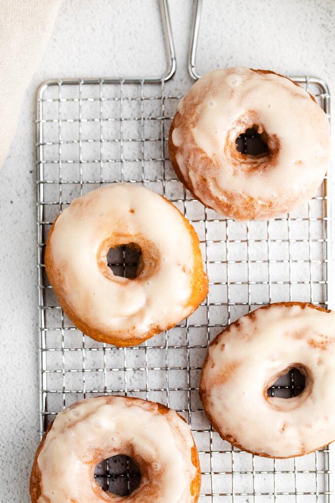 Old Fashioned Glazed Doughnuts