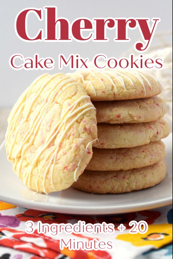 Cherry Cake Mix Cookies