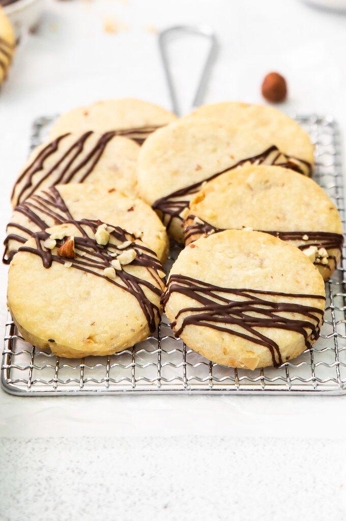 Chocolate Hazelnut Shortbread Cookies Recipe