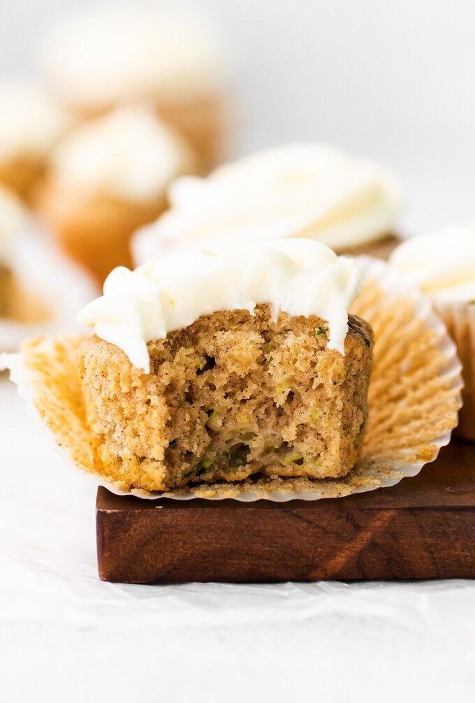 Homemade Zucchini Cupcake