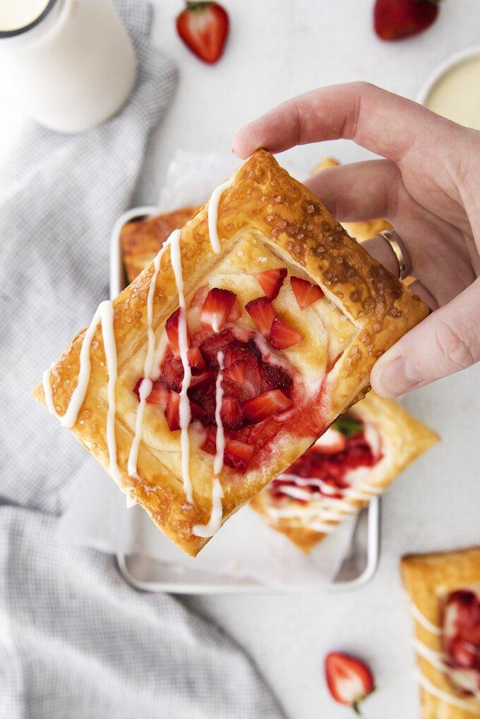 Strawberry Danishes